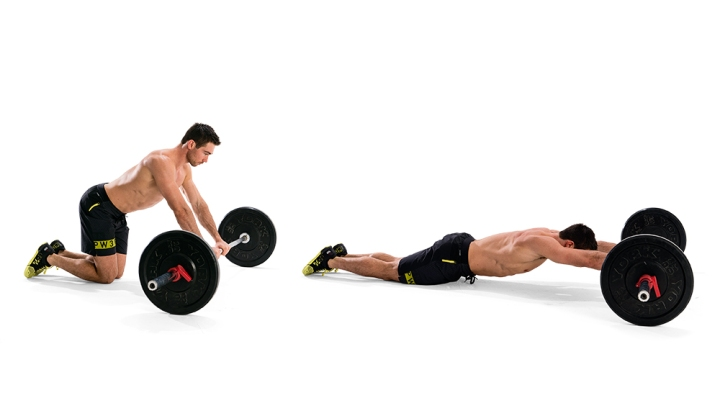 EZ Or Barbell Abdominal Roll-Out Performance.