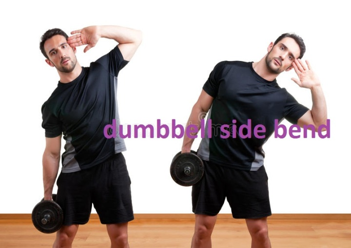 Dumbbell Side Bend Muscles worked.
