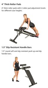 X-class light commercial multi  workout abdominal , hyper back extension  bench