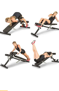 X-class light commercial multi  workout abdominal , hyper back extension  bench.