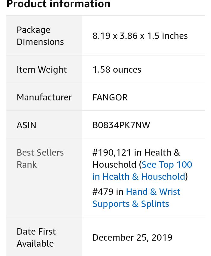 wrist Brace   -by  fangor  product overview