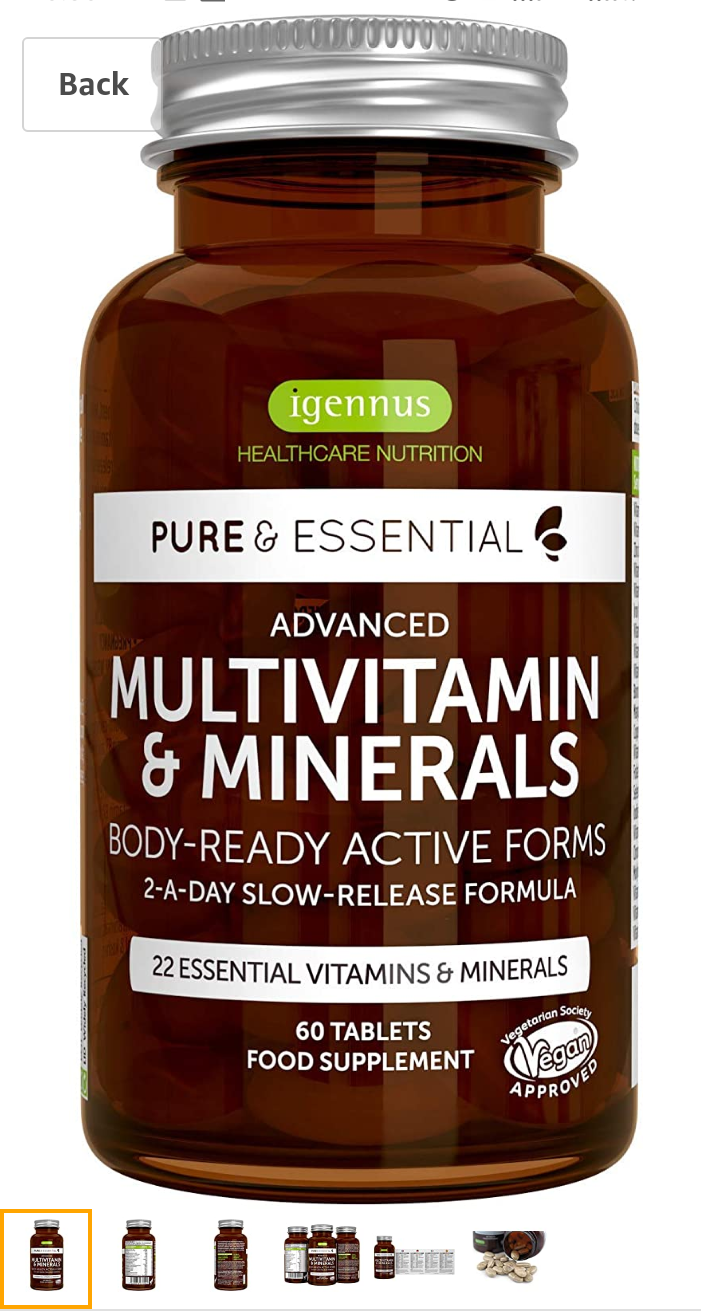 Advance multivitamin  and minerals  -  by Igennus Healthcare Nutrition