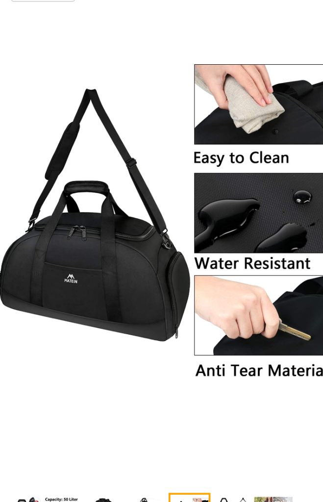 Workout /Travel Duffel Bag - by Matein
