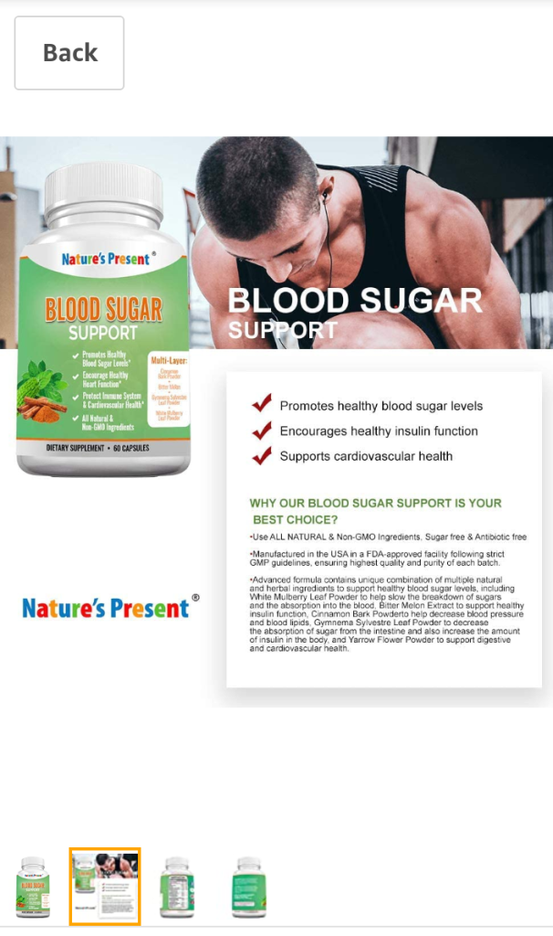 Blood Sugar Support - by Nature Present