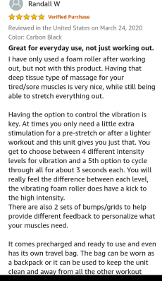 Epitomie fitness - vibrating roller foam Buyers review