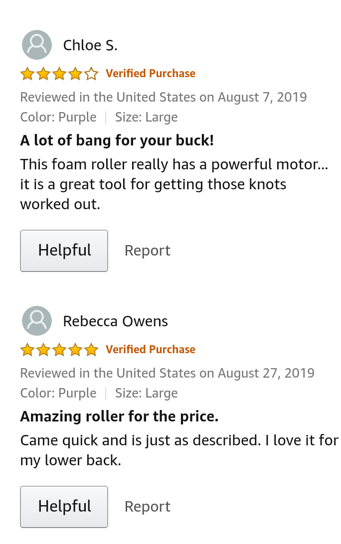 Suvius - Electric vibrating foam Buyers review