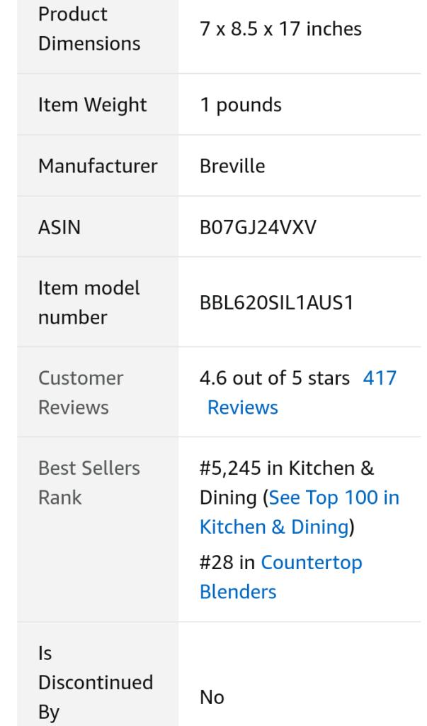 Breville blender Product overview