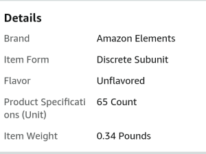 IMAGE OF Amazon Elements multivitamin OVERVIEW