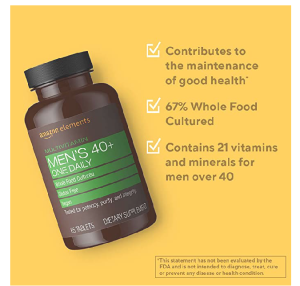image of a Amazon elements men's 40+ multivitamin