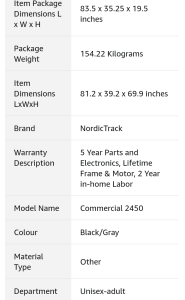 image of nordictrack treadmill overview