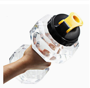 IMAGE OF A DUMBBELL WATER BOTTLE